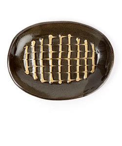 丹窓窯 楕円皿 24