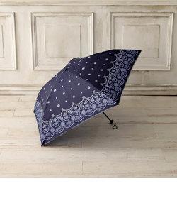グラデーションスカラップ柄晴雨兼用軽量折りたたみ傘 雨傘