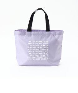 スクエアロゴ柄スリットポケット付きバッグS