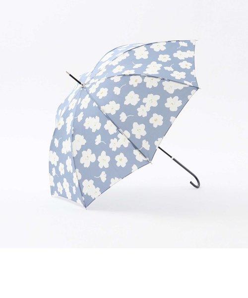 ワントーンフラワー晴雨兼用長傘 雨傘