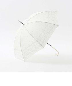 スカラップレース柄晴雨兼用長傘 雨傘