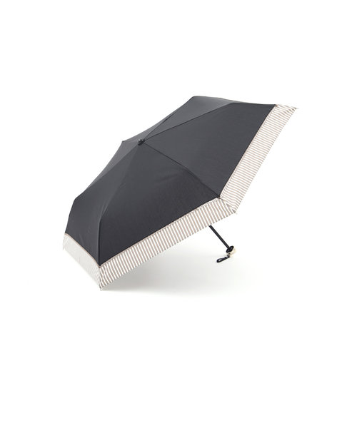 ヘムストライプ晴雨兼用折りたたみ傘 日傘