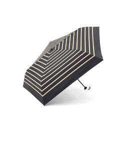 ボーダー柄晴雨兼用折りたたみ傘 日傘
