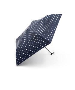 ドット柄晴雨兼用折りたたみ傘 日傘