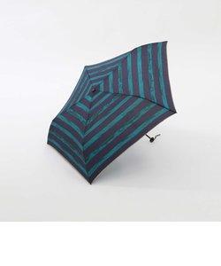 手描きボーダー晴雨兼用折りたたみ傘 雨傘