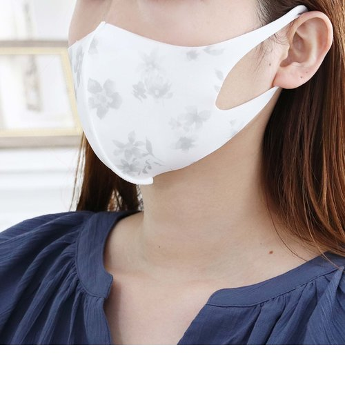 フラワー柄洗える抗菌クールマスク3枚セット/女性向けMサイズ