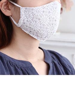 フラワーレース抗ウイルスガーゼマスク/女性向けMサイズ