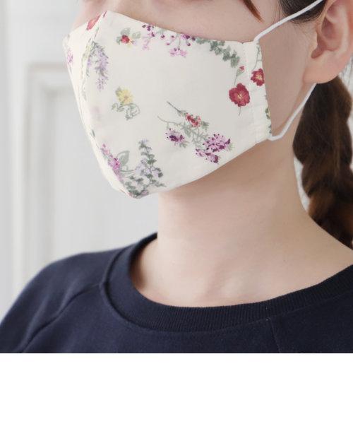 フラワー柄抗菌防臭コットンマスク/女性向けMサイズ