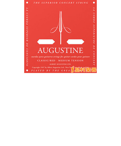 アカ4 クラシックギター弦 CLASSIC/RED ミディアムテンション 4弦:029【バラ弦1本】