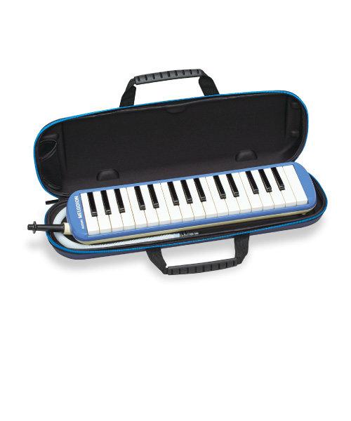 FA-32B ブルー メロディオン 鍵盤ハーモニカ 【セミハードケース付き】 【唄口・ホース付】