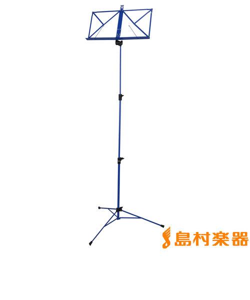KB341F 譜面台 ブルー スチール製 【折りたたみ】
