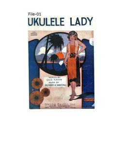 File-01 ウクレレコード付クリアファイル UKULELE LADY