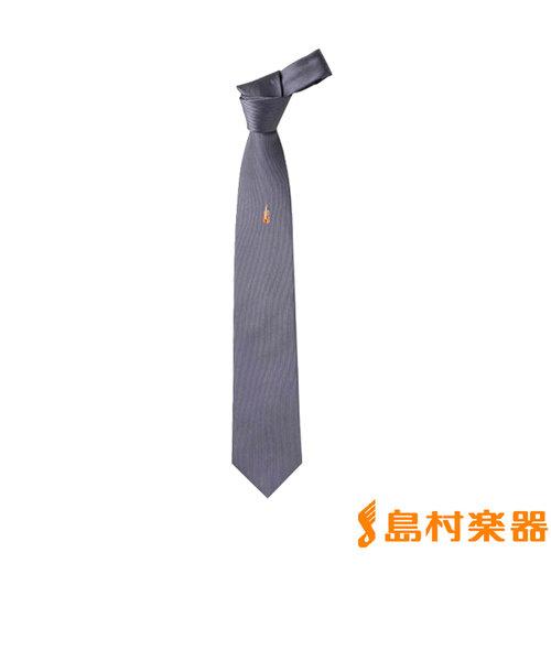 CNSJA グレイ ミュージックネクタイ(シルク製ジャガード織)