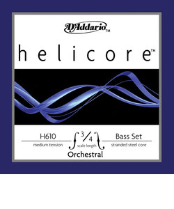 H610 3/4M コントラバス弦 Helicore Orchestral Bass strings ミディアムテンション 3/4スケール セット弦