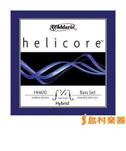 HH610 3/4M コントラバス弦 Helicore Hybrid Bass Strings ミディアムテンション 3/4スケール セット弦