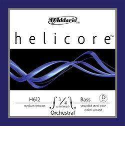 H612 コントラバス弦 Helicore Orchestral Bass strings ミディアムテンション 3/4スケール D線 【バラ弦1本】