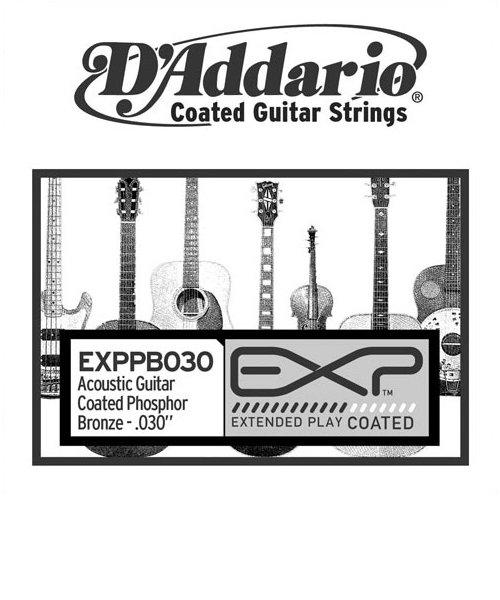 EXPPB030 アコースティックギター弦 EXP Coated Phosphor Bronze Round Wound 030 【バラ弦1本】