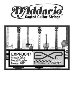 EXPPB047 アコースティックギター弦 EXP Coated Phosphor Bronze Round Wound 047 【バラ弦1本】