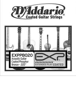 EXPPB020 アコースティックギター弦 EXP Coated Phosphor Bronze Round Wound 020 【バラ弦1本】