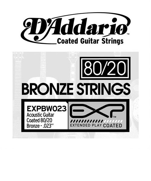EXPBW023 アコースティックギター弦 EXP Coated 80/20 Bronze Wound Singles 023 【バラ弦1本】
