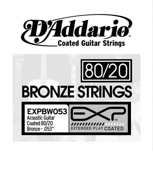 EXPBW053 アコースティックギター弦 EXP Coated 80/20 Bronze Wound Singles 053 【バラ弦1本】
