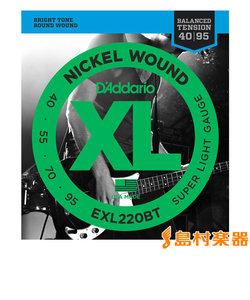 EXL220BT ベース弦 XL Nickel Round Wound バランスドテンション スーパーライトゲージ 040-095