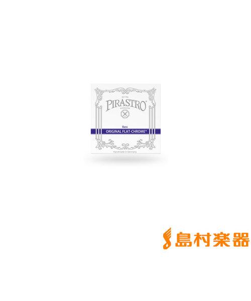 347420 コントラバス弦 ORIGINAL FLAT-CHROME オリジナルフラットクローム 3/4用 Mittel E線 【バラ弦1本】
