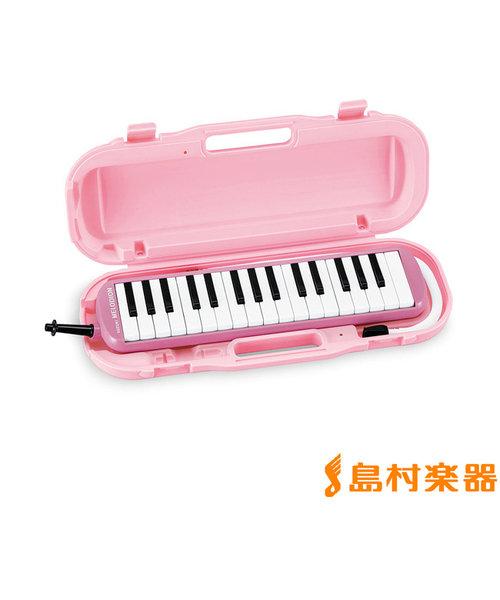 MXA-32P (ピンク) 【小学校推奨アルト32鍵盤】 【唄口・ホース付】 【ハードケース付】 メロディオン 鍵盤ハーモニカ