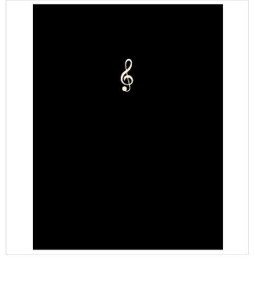 FL95/SGC/BL 楽譜ファイル スモールト音記号 ミュージックレッスンファイル BL 黒
