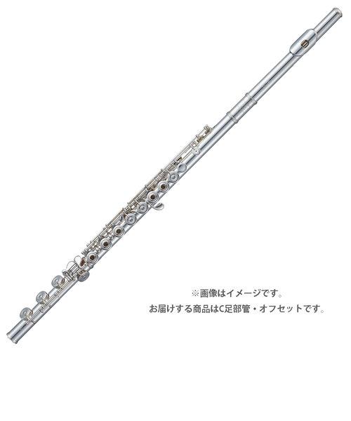 F-MD997/RE フルート 総銀製 C足部管 オフセット リングキィ Eメカ付き ドローン