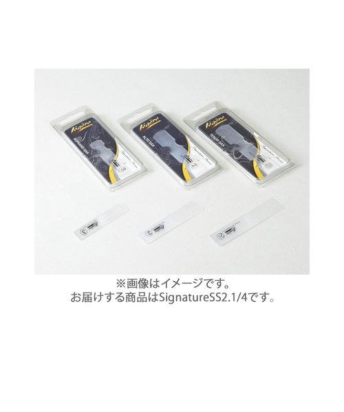 SignatureSS2.1/4 リード ソプラノサックス用 樹脂製 【硬さ:2.1/4】