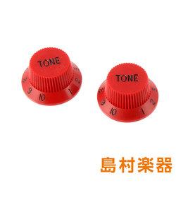 PK-0153-026 Red ノブ トーン ストラトキャスター用 2個入り Red Tone Knobs 5049