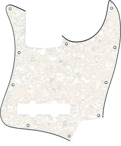 WSB-STD Pickguards White Pearloid ピックガード エレキベース用
