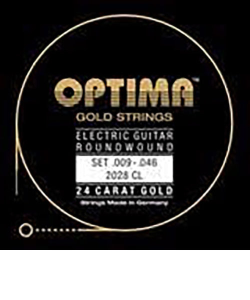 2028.CL エレキギター弦 E-GUITAR 24K GOLD STRINGS 009-046
