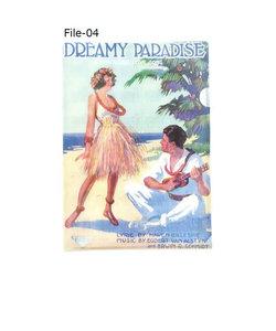 File-04 ウクレレコード付クリアファイル DREAMY PARADISE