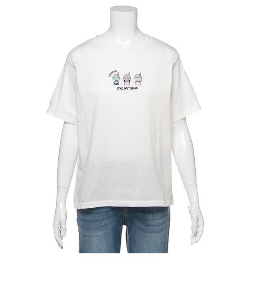 吸水速乾 ドリンク刺しゅうTシャツ
