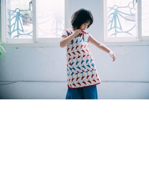 キッズエプロン110cm/台湾八哥 No.5/古宅紅粉