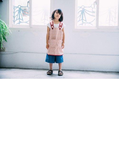 キッズエプロン110cm/台湾八哥 No.4/地質粉紅
