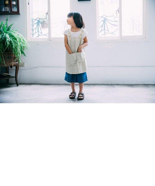 キッズエプロン130cm/台湾八哥No.4/橄欖緑