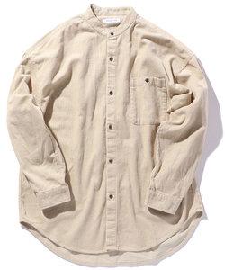 ビッグシルエット バンドカラーシャツ / ビッグシルエット / オーバーサイズ