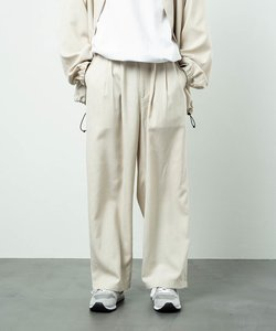 TECH-LINEN WIDE TACK PANT/テックリネン ワイド タック パンツ