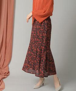 花柄ティア―ド切り替えスカート