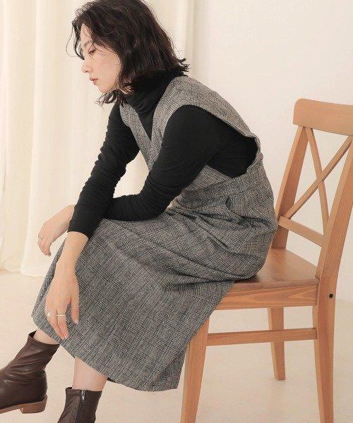 【WEB限定】チェックジャンパースカート/ワンピース