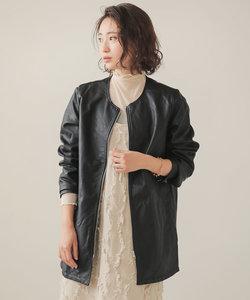 【WEB限定】シンセティックレザーミドルジャケット