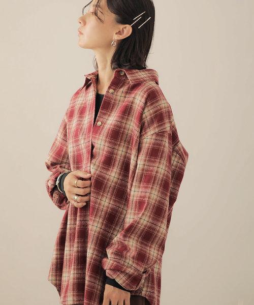 【WEB限定】ビッグシルエット起毛チェックシャツ