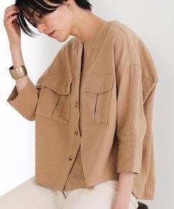 バイオ加工ワークシャツジャケット