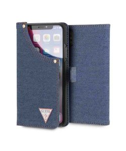 TRIANGLE LOGO BOOKTYPE CASE for iPhone X (DARK BLUE DENIM)【JAPAN EXCLUSIVE ITEM】
