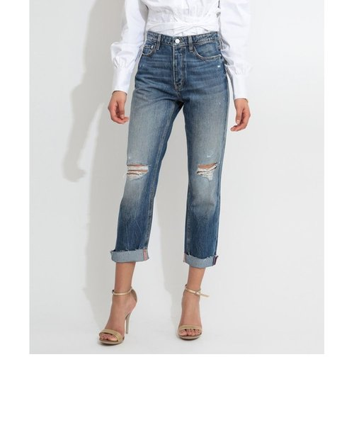 THE IT GIRL Relaxed Cut-Off Denim Pant