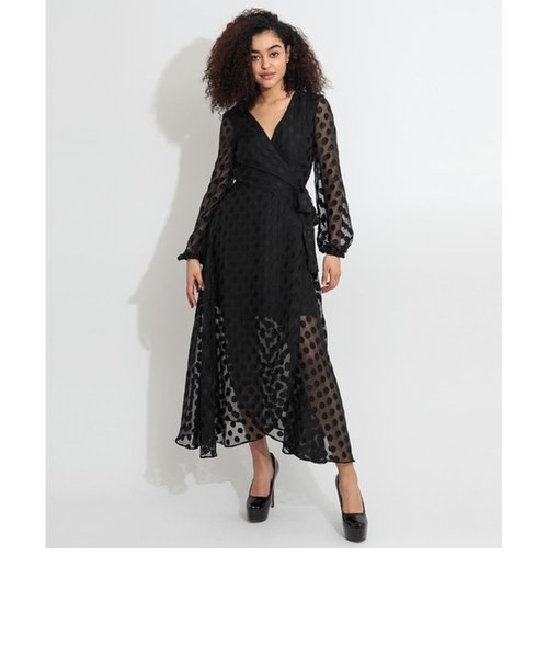 Bertha Long-Sleeve Wrap Dress