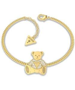 VINTAGE BEAR Bear Charm Chain Bracelet (Gold)